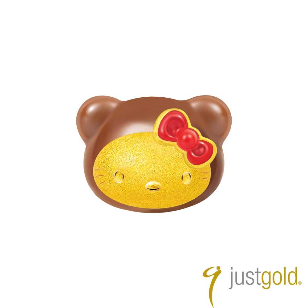 鎮金店Just Gold Kitty Bear-玩偶 黃金單耳耳環