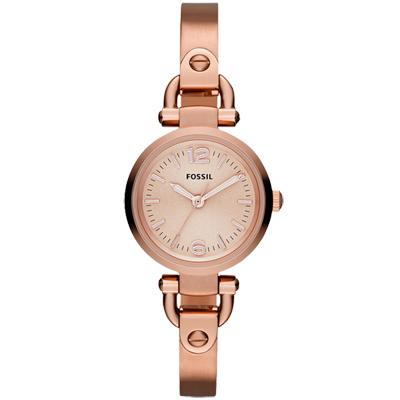 FOSSIL Mini 法式時代典雅小型錶腕錶-玫瑰金/27mm