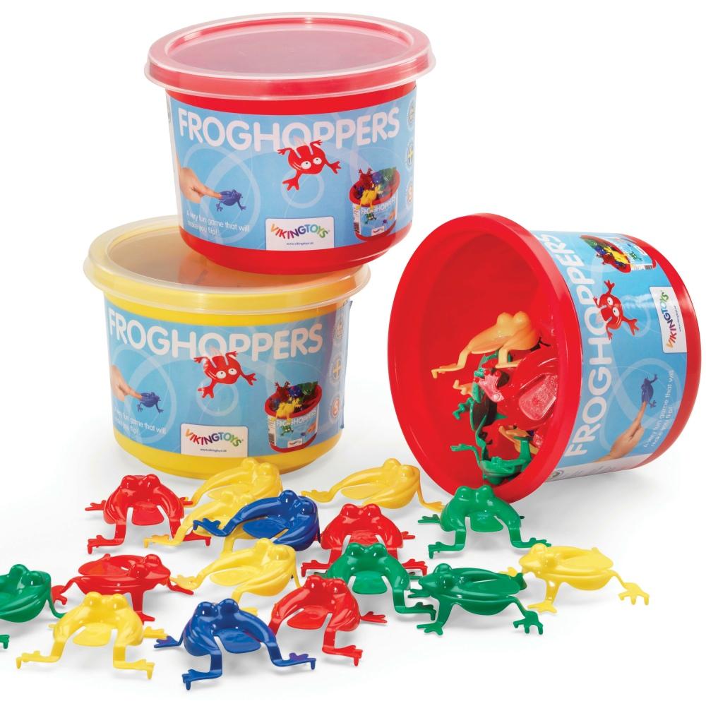 瑞典Viking Toys維京玩具-彩色小青蛙(桶)