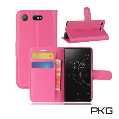 PKG SONY Xperia XZ Premium側翻式皮套經典皮革系列-玫粉