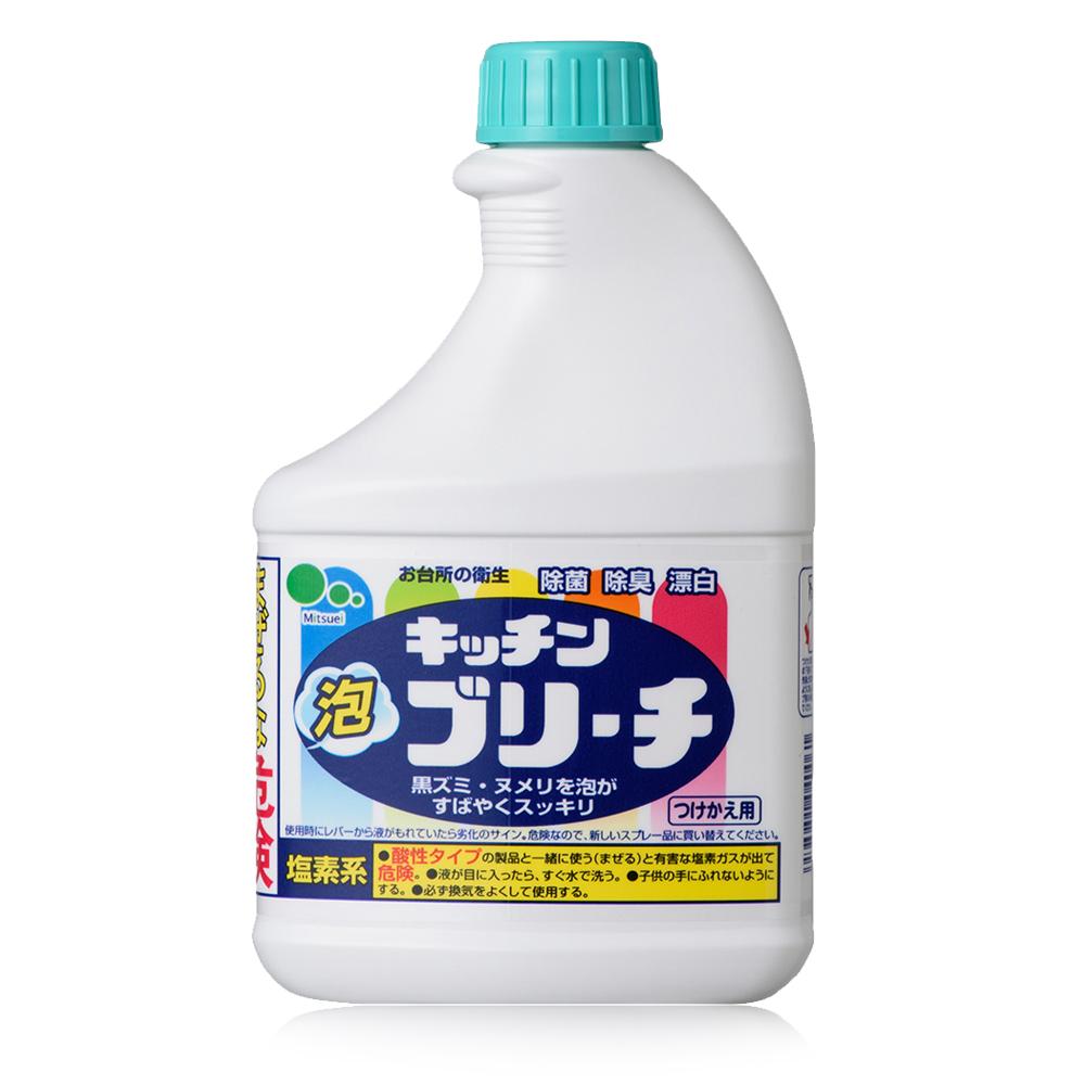 日本Mitsuei美淨易廚房泡沫漂白劑 補充瓶400ml