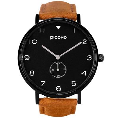 PICONO SPY S系列 輕薄真皮錶帶手錶(YS-7201)