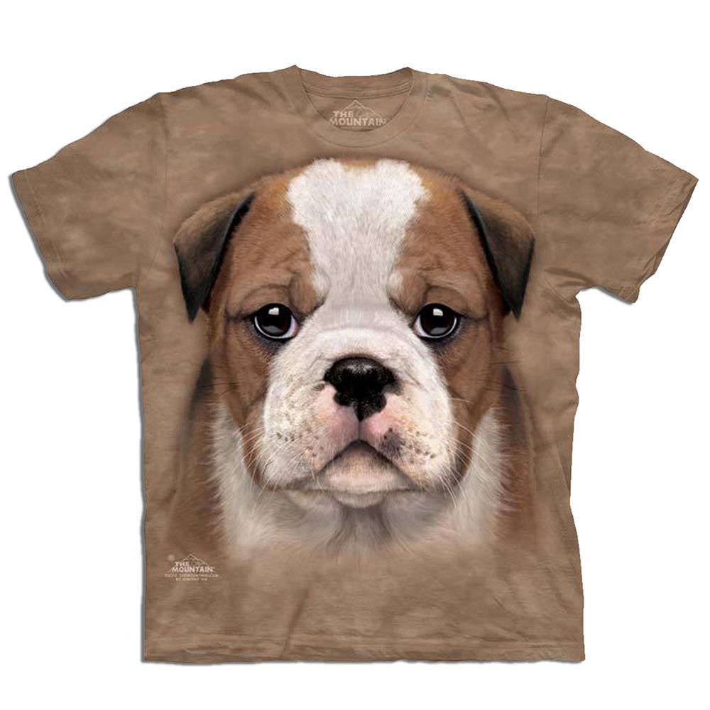 摩達客 美國進口The Mountain 小鬥牛犬 純棉環保短袖T恤