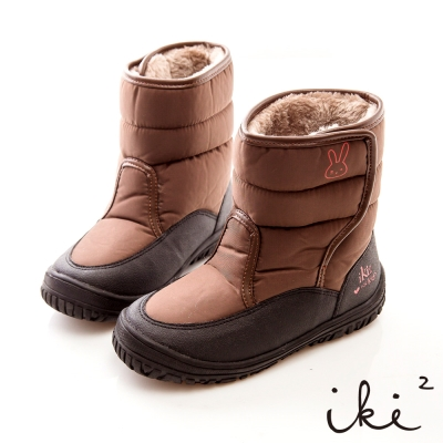 iki2童鞋-咕妮兔進口防水鋪毛跑跳機能靴-巧克力