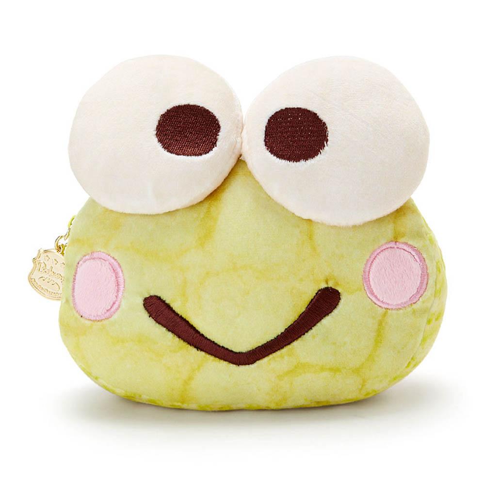 Sanrio 三麗鷗明星趣味麵包店系列大臉造型絨毛化妝包(大眼蛙)