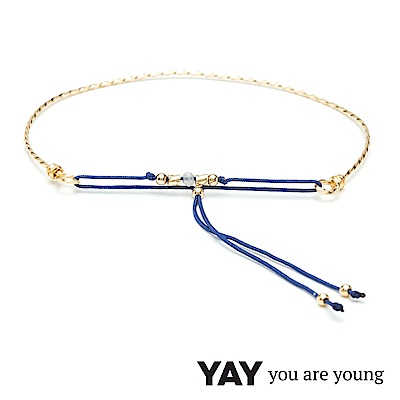 YAY You Are Young 法國品牌 Cleo 灰瑪瑙手環 金色