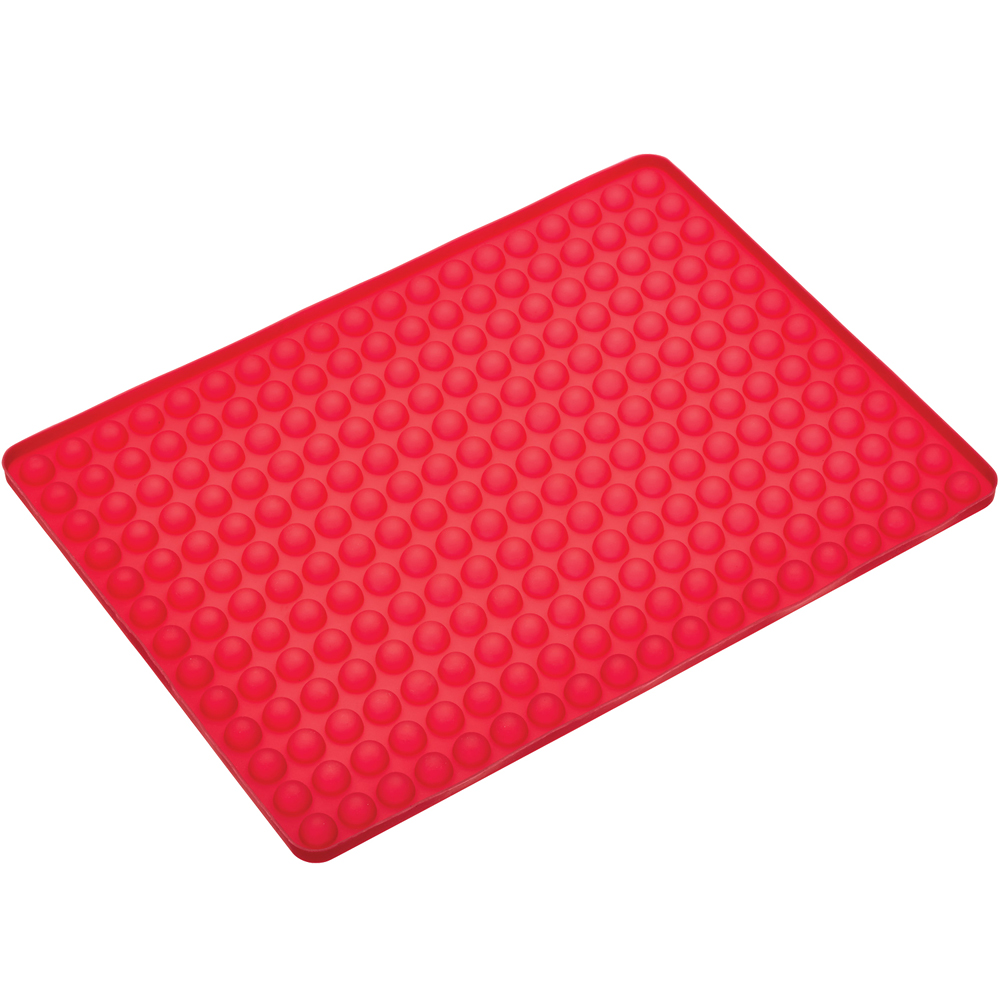 Master 排油矽膠烤墊(紅30x22cm)