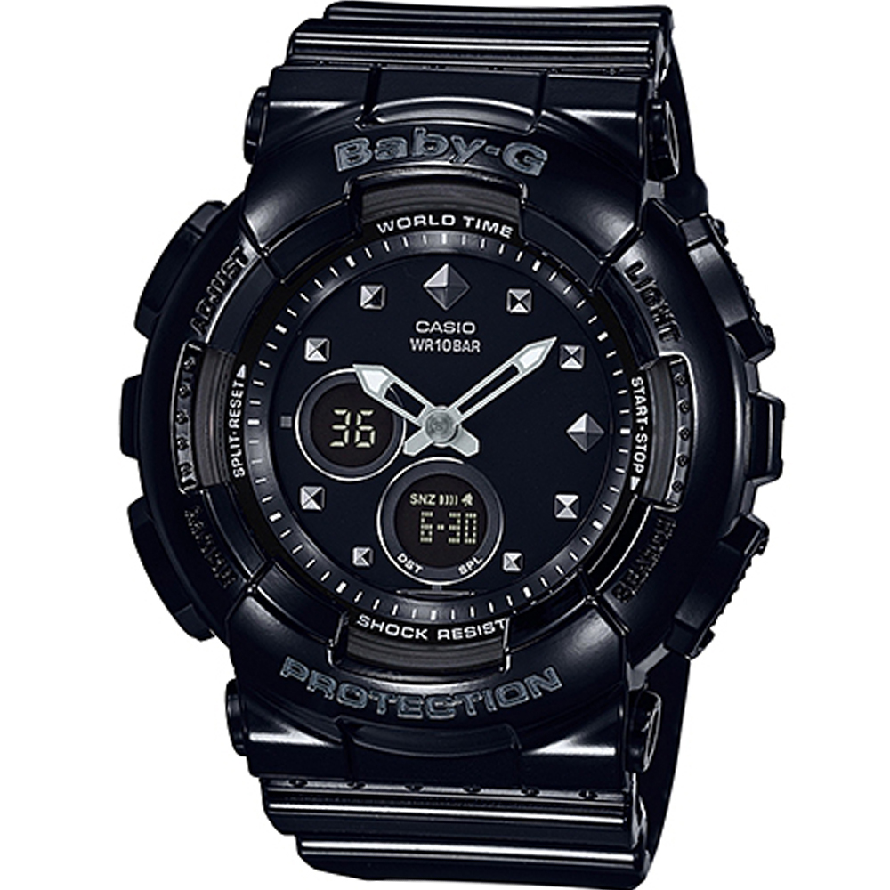 BABY-G 酷勁十足運動錶(BA-125-1A)-黑/43.4mm