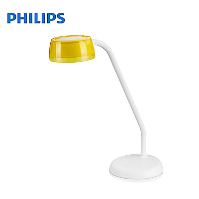 飛利浦 PHILIPS LIGHTING 酷琥LED檯燈-檸檬黃 72008