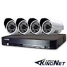 士林電機-4路混合HD1080P監控主機+高解1000條晶片防水攝影機x4支套餐