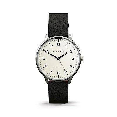 Newgate-BLIP-經典數字-紳士黑-皮革錶帶-40mm