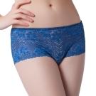 思薇爾 溝惹火系列低腰平口褲(帝國藍)