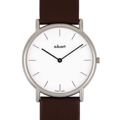 a.b.art KL系列 超薄復古中性腕錶-白/38mm