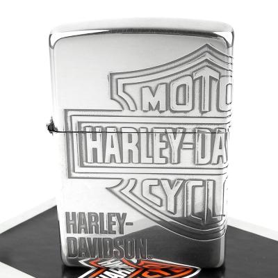 【ZIPPO】日系~Harley-Davidson-哈雷-銀燻黑蝕刻4面加工