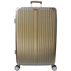 YC Eason 麗致24吋PC髮絲紋可加大海關鎖行李箱 鈦金
