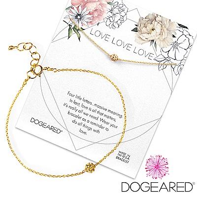 Dogeared love 珍愛系列 經典碎鑽圓球金色手鍊 附原廠盒