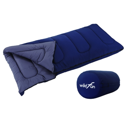 WildFun 野放可拼接方型親子睡袋 深藍- 900 g填充
