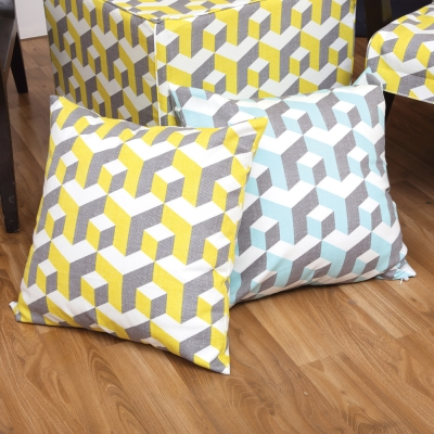 IN HOUSE-純棉抱枕-經典系列-立體錯視-買一送一