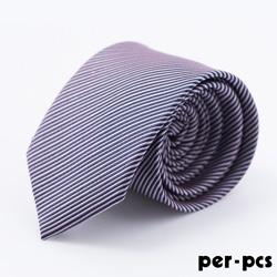 per-pcs 時尚典雅紳士雅痞領帶_紫藍斜紋(717015)