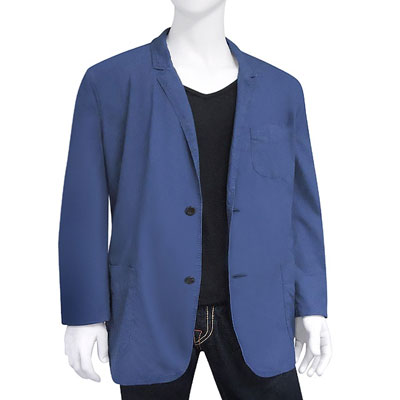 BURBERRY 藍色單排釦紳士長版外套-XXL號