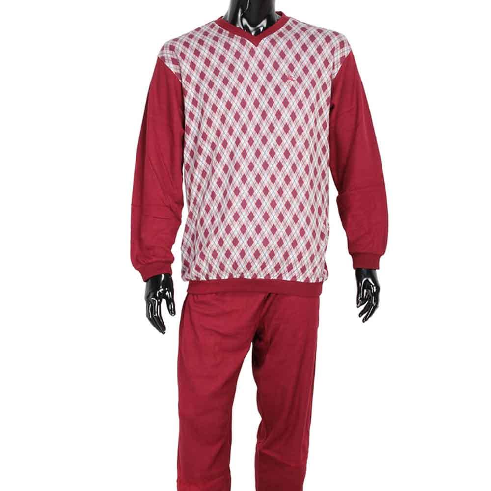 BURBERRY經典格紋保暖休閒家居服-紅色
