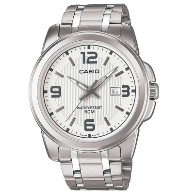 CASIO 簡約經典時尚指針日曆腕錶(MTP-1314D-7)白面/44.9mm