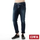 EDWIN 大尺碼 迦績褲CARGO窄直筒牛仔褲-男-拔洗藍