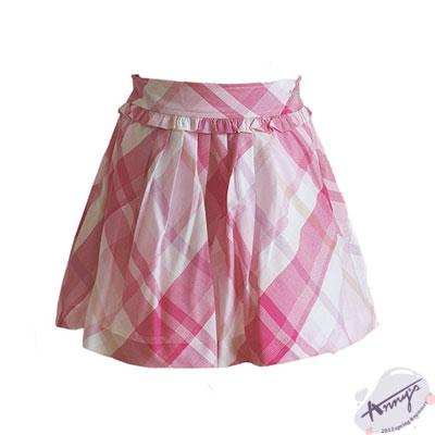 頂級棉荷葉高腰A字短裙*3353粉