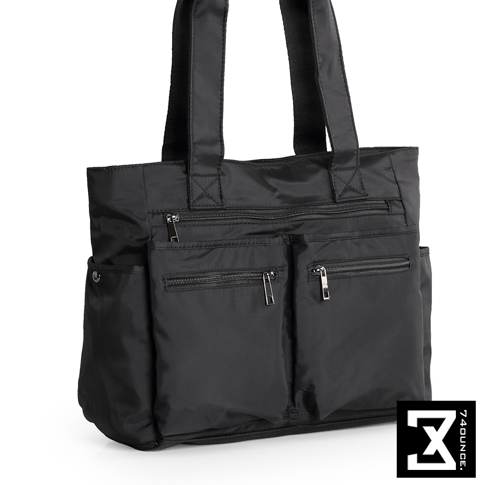 74盎司 雙口袋側背手提肩背包[TG-160]黑