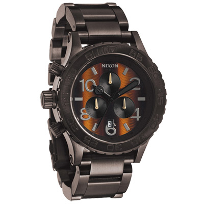 NIXON The  40 - 20  CHRONO 強眼魅力運動腕錶-鋼帶-咖啡/ 42 mm