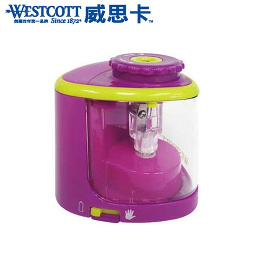 WESTCOTT 威思卡 16389 粉紅 鈦金屬刀頭兩用電動削筆機