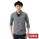 EDWIN襯衫 點點牛津襯衫-男-丈青