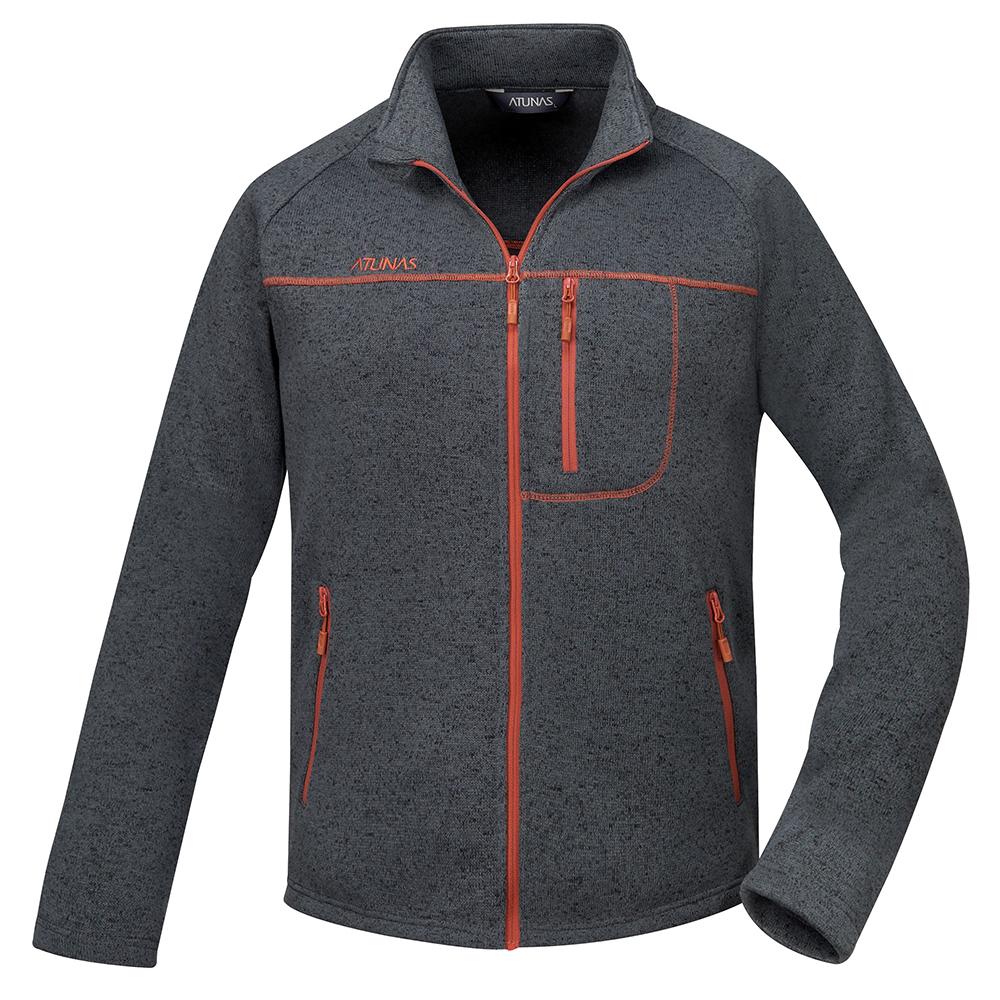 【ATUNAS 歐都納】男款刷毛保暖外套 A-G1651M黑
