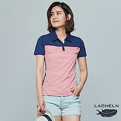 【LACHELN】經典條紋吸排POLO衫(S72W912)