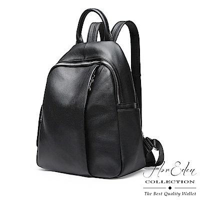 DF Flor Eden - 首爾氣息純色簡約牛皮後背包