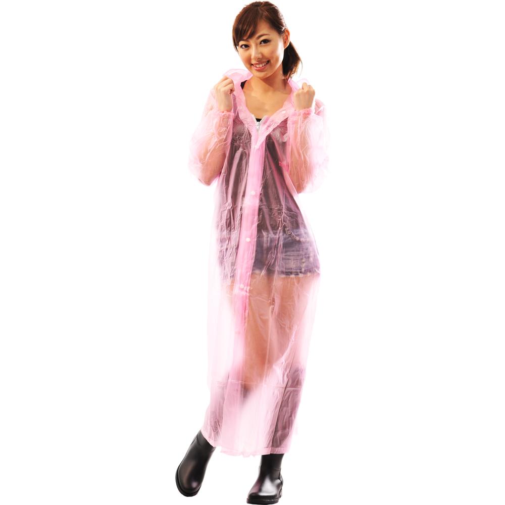 達新牌珍珠II 透明果凍 PVC前開式雨衣(5色可選)