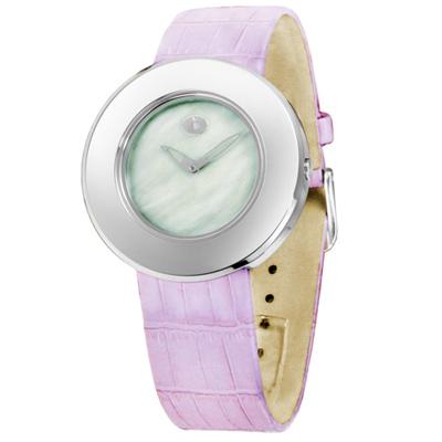 o.d.m. 純情物語珍珠母貝時尚腕錶-綠x紫錶帶/37mm