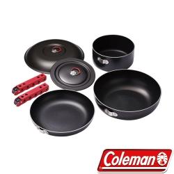 Coleman PK31 三件式硬鋁套鍋組 螺旋紋底不沾鍋/平底鍋/湯鍋/露營鍋具