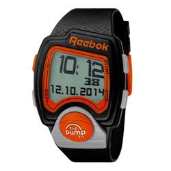 Reebok PL系列空中飛人電子運動腕錶-橘x黑/43mmx40mm