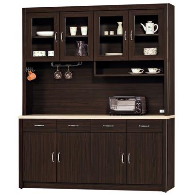 時尚屋-艾力森胡桃色5-3尺餐櫃組
