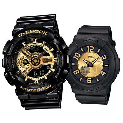 G-SHOCK-BABY-G組合狂派變形金剛重型休閒錶-搖滾星星派對錶