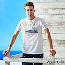 Nautica  型男衝浪水彩風短袖T恤 -白