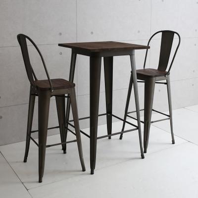 微量元素 復刻新工業榆木吧台桌椅組/一桌二椅