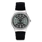 Swatch 51號星球機械錶 SISTEM RUB 軍綠奇航手錶