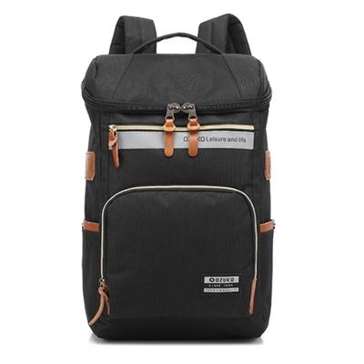 O.Z OZ1401 BK黑色 15.6吋韓版時尚尼龍後背筆電包
