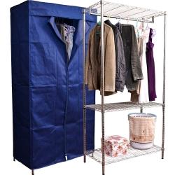 衣櫥~樂活家~三層波浪衣櫥架(附布套)90x45x180cm