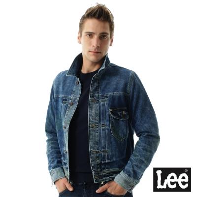 Lee 牛仔復古洗水Vintage Laundry系列外套 -男款-藍色