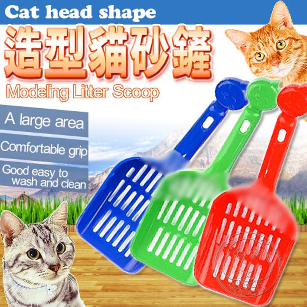 貓頭標誌造型抗菌貓砂鏟隨機出貨2支 (長25*寬10cm)