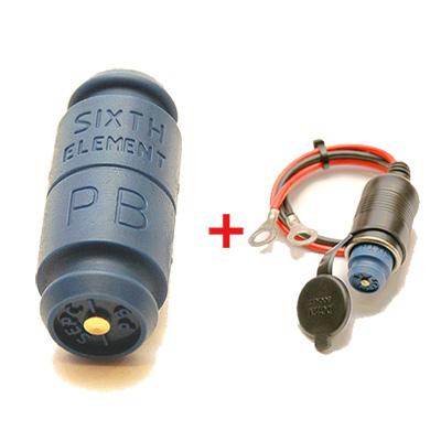 第六元素藍色電集棒+專用單孔插座