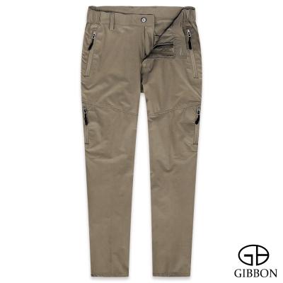 GIBBON 吸濕排汗彈力登山機能褲‧棕色M-3XL